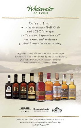 Whitewater Golf Club Scotch Whisky Tasting Poster