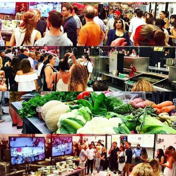 Collage of photos from Chef Battle