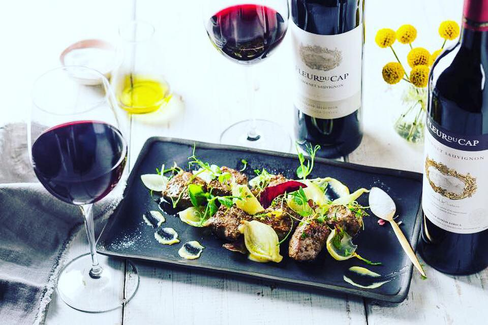 Wine with fancy dinner