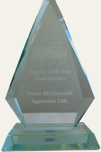 Supplier of the year trophy