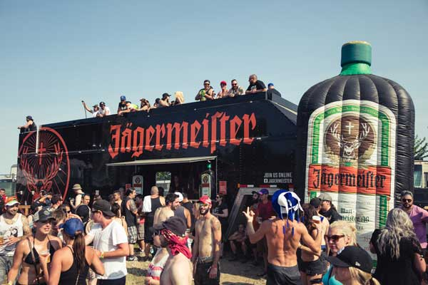 Jagermeister truck surrounded by crowd