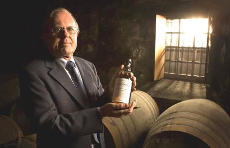 David Stewart holding bottle of Balvenie