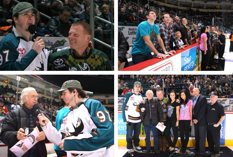 PMA & Appleton Shoot Out Promotion with The Manitoba Moose Collage