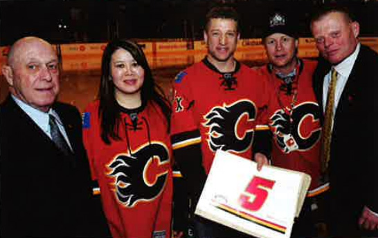 Calgary Flames vs. The Wall Shoot Out Award Presentation