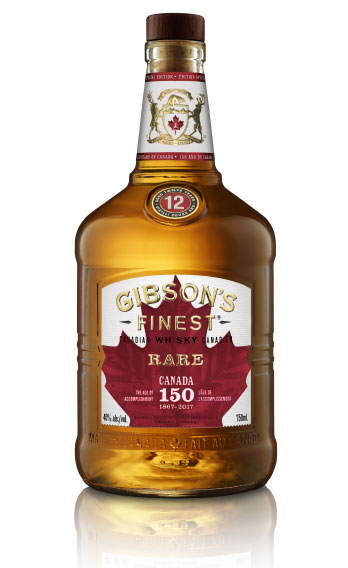 Gibson's Finest 150th anniversary bottle