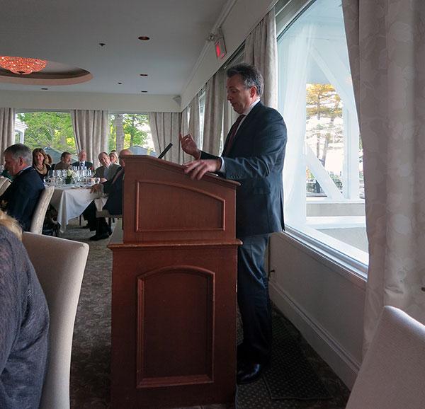 Matthew Nugan celebrates his second wine listing in Ontario Nugan 3rd generation Chardonnay.