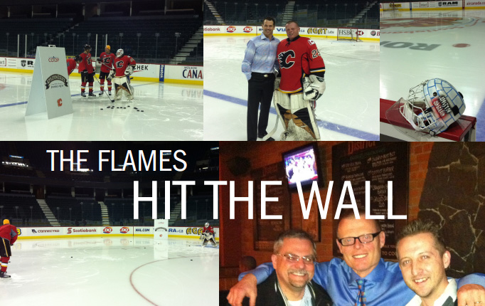 "Peter ""The Wall"" Mielzynski vs. The Calgary Flames 2011 Collage"