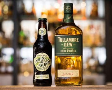 Tullamore Dew and Innis & Gunn bottles