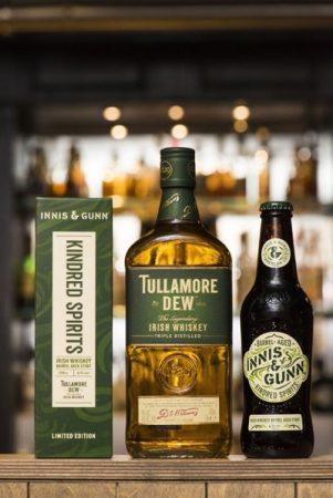 Tullamore Dew and Innis & Gun Bottles