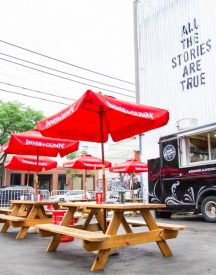 Innis & Gunn Food truck and tables