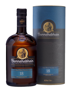 Bunnahabhain 18 Year Old Islay Single Malt Scotch Whisky Bottle