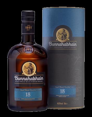 Bunnahabhain 18 Year Old Islay Single Malt Scotch Whisky Bottle