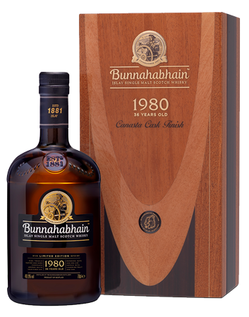 Bunnahabhain 1980 Canasta Finish Islay Single Malt Scotch Whisky Bottle