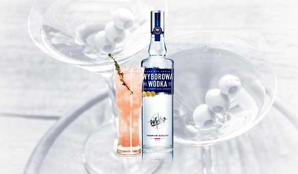 Wyborowa Pretty in Pink Cocktail