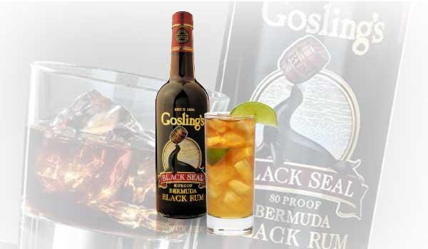 Goslings Dark n Stormy Cocktail